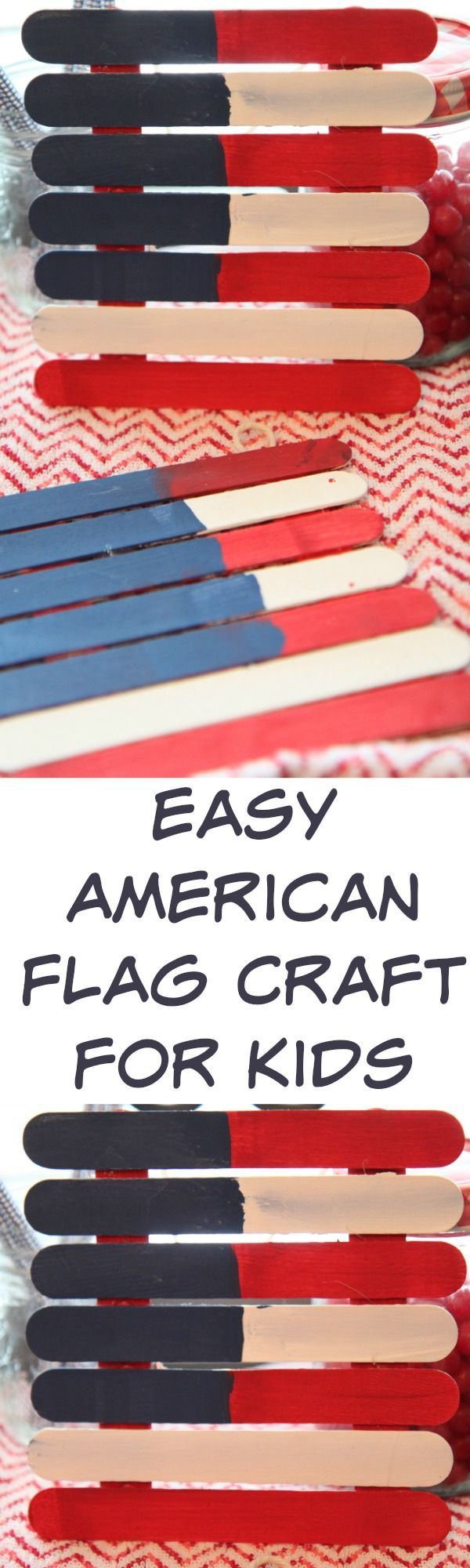 Easy American Flag Art Craft for Kids :: DIY Project Idea for the 4th of July – …  – Best of Briana