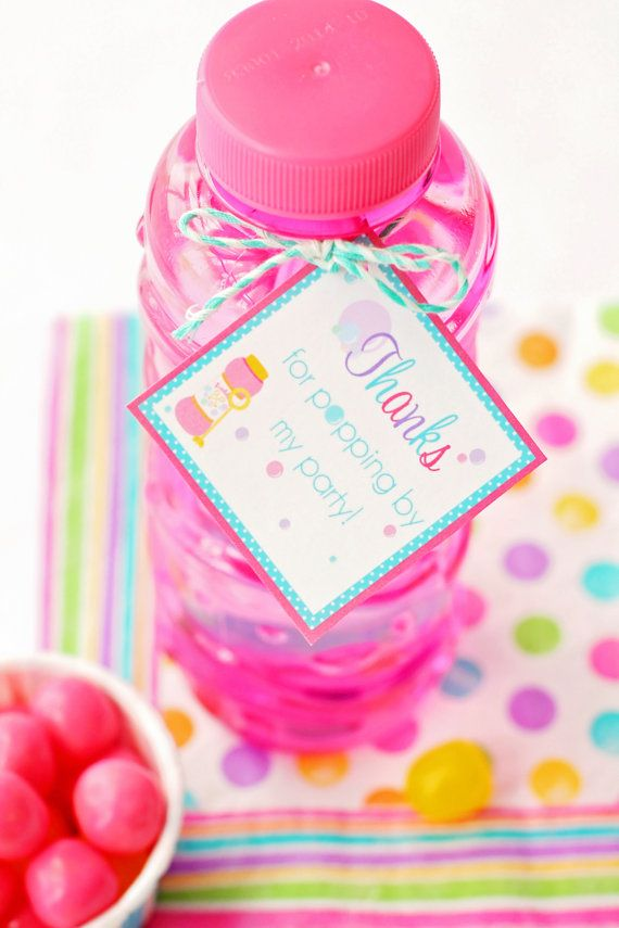 Bubble Party Gift Tags / Bubble Party Favor Tags / Bubble Party Favors / Bubble Birthday Party / Bubble Party Printables
