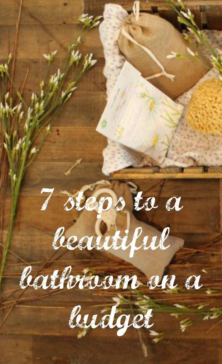 7 steps to a beautiful bathroom on a budget. Thrifty bathroom makeover ideas to make the most of this important room in your home #budgethomedecor  #budgetmakeover
