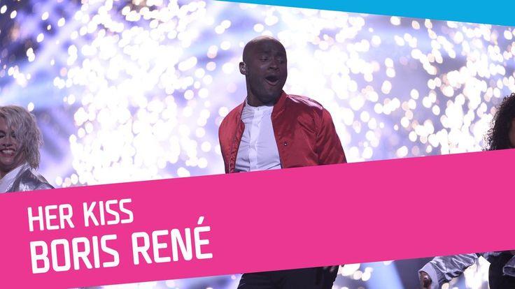 Boris René sjunger Her Kiss i Melodifestivalen 2017.