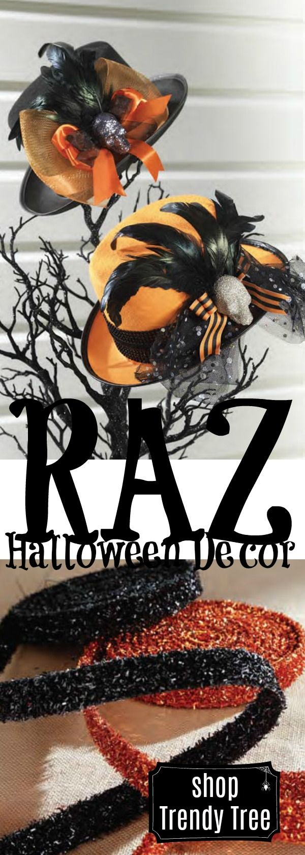 Shop Trendy Tree for fantastic RAZ Halloween decorations! #TrendyTree #halloween #raz