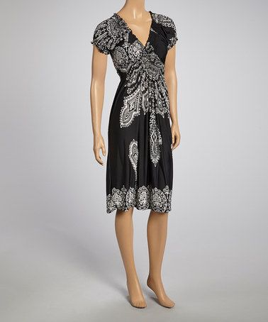 Love this Black Peasant Dress by Jessica Taylor on #zulily! #zulilyfinds