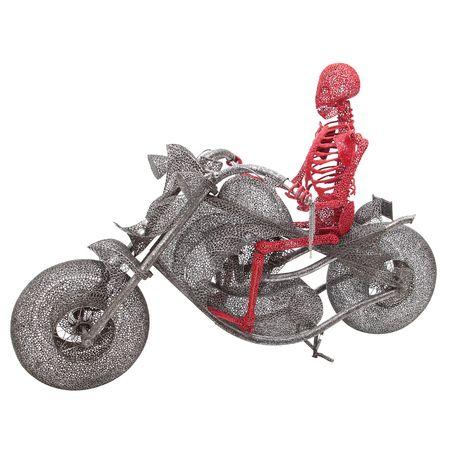 """Skulptur """"Ghost Rider"""" von Anacleto Spazzapan, Italien 2010"""