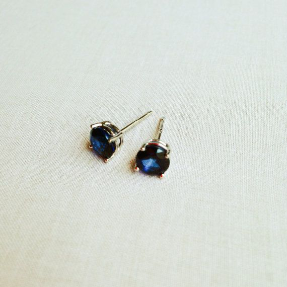 Sapphire Stud Earrings Blue Sapphire Earrings Saphire