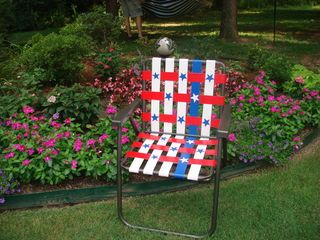 We decided to fix-up my Grandmother's old lawn chair for the 3M Duct Tape Contest. Thanks for the idea and the opportunity!