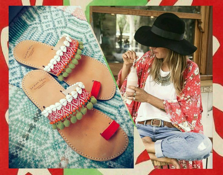 red macaw sandals