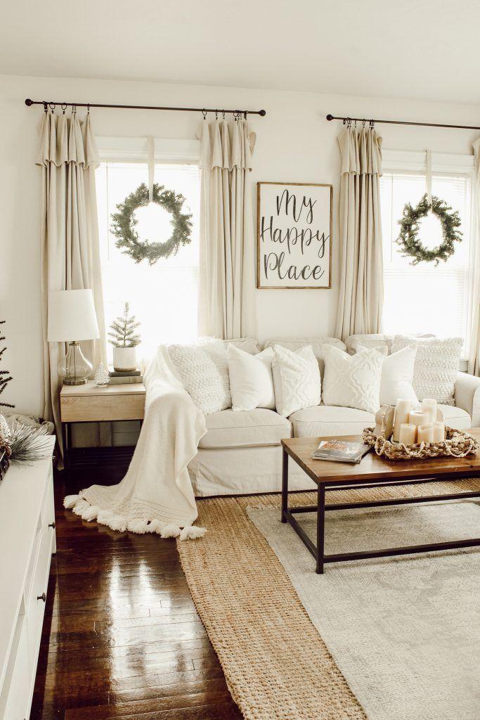 Our Christmas Home Tour Farm House Living Room Farmhouse Decor Living Room Curtains Living Room