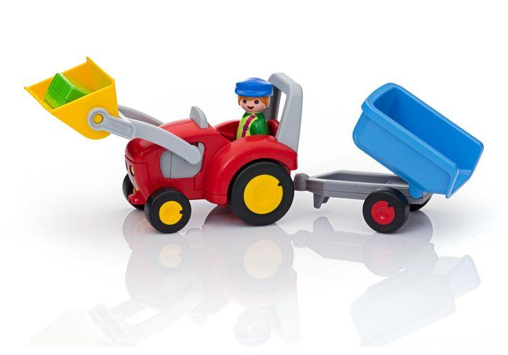 Fermier avec tracteur et remorque - 6964 -  PLAYMOBIL® France