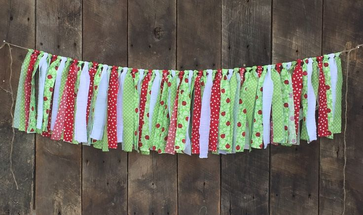 Ladybug Fabric Garland, Ladybug Birthday Party, Summer Party, Baby shower, Highchair bunting, smash cake, red, green and white by GraceNGoods on Etsy https://www.etsy.com/listing/513494143/ladybug-fabric-garland-ladybug-birthday