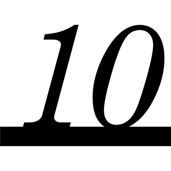 Number 10 italic underline ❤ liked on Polyvore featuring numbers, black, text, 123, arrows and numbers & symbols