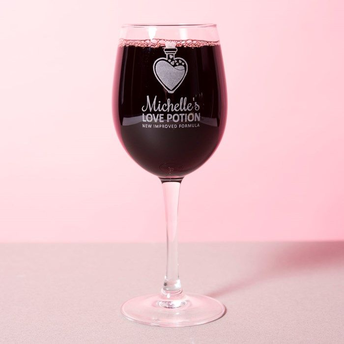 Personalised Wine Glass - Love Potion | GettingPersonal.co.uk