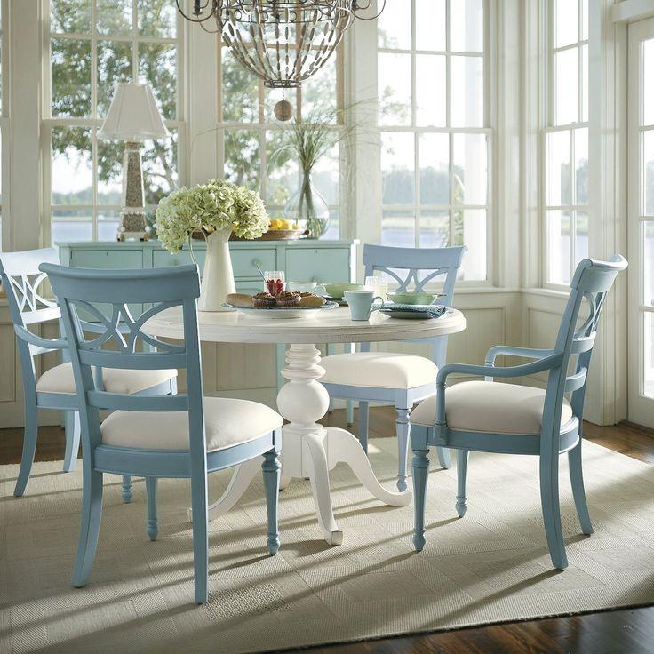 Stanley Furniture 5 piece Coastal Living Pedestal Dining Set - ATG Stores