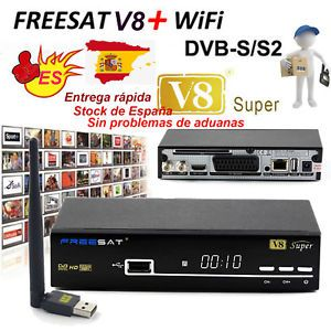 a decodificador digital freesat v8 super dvb s2 hd receptor de sateliteantena usb