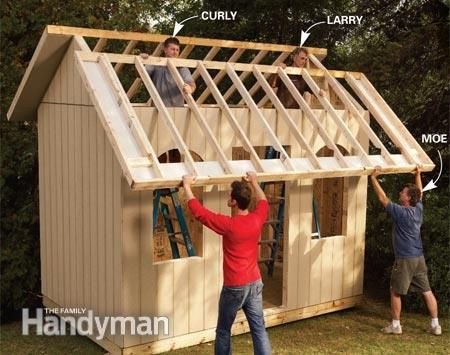 How to Build a Cheap Storage Shed - Step by Step: The Family Handyman