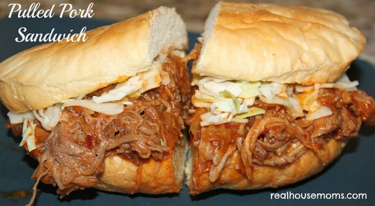 Pulled Pork Sandwich | Real Housemoms | Pulled Pork sandwiches are a summer requirement here in our house!