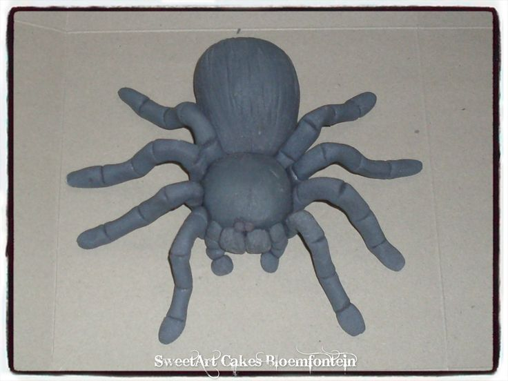 FONDANT TARANTULA For more info or orders email sweetartbfn@gmail.com or call 0712127786 (Deliveries of decor available nationwide)