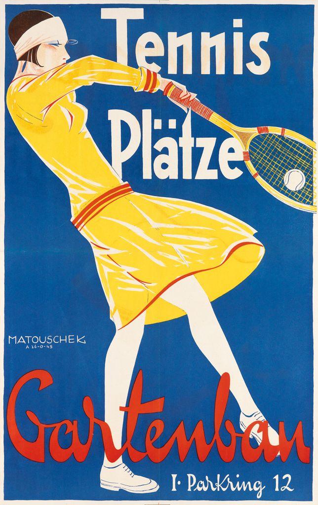 Rudolf Matouschek, Tennis Plätze / Gartenbau, circa 1927