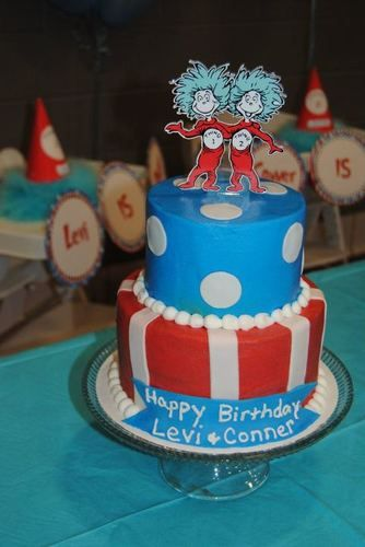 Thing 2 Cake Topper or Any Character Cake Decoration  eBay  Birthday ...