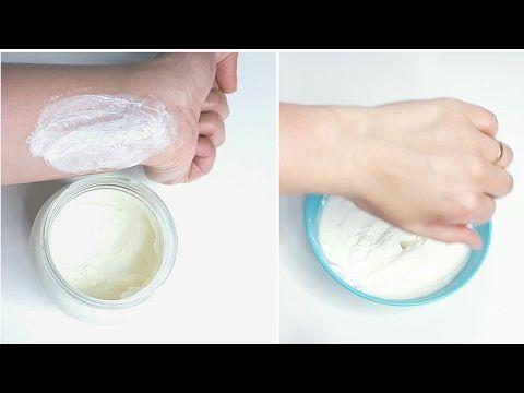 Haz tu propio crema blanqueadora corporal nocturna. Para brazos, piernas, rodillas y etc.
