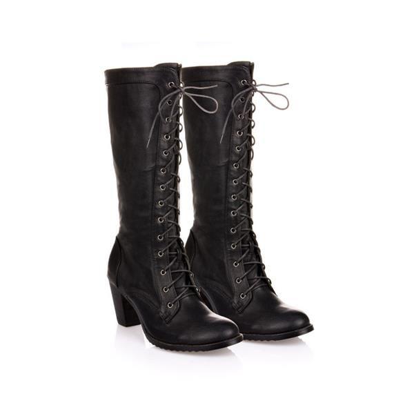 Зимний ботинки со шнуровкой купить
