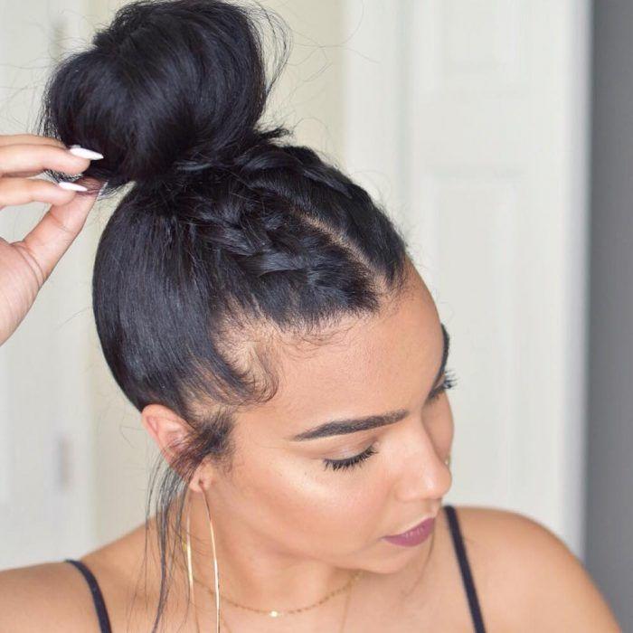 20 penteados para fazer em menos de 10 minutos | Natural hair styles, Wig hairstyles, Hair styles