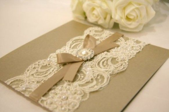 DIY Vintage Wedding Invitations  ♥ This is similar style to the other one
