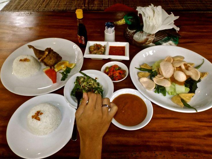 Our dishes on Bebek Bengil Restaurant at Ubud, Bali. #ALIKA