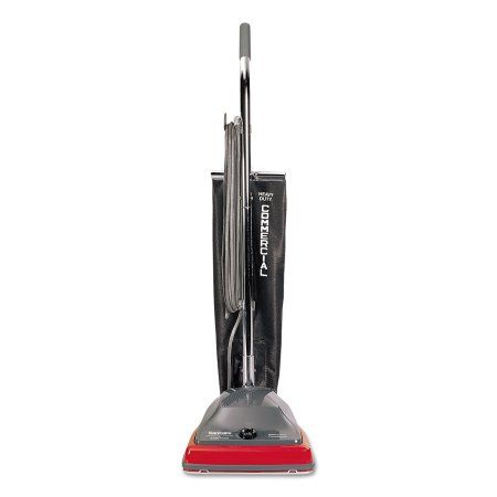 Sanitaire Commercial Lightweight Bag-Style Upright Vacuum, Red