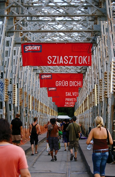 The Sziget festival entrance
