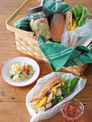 【ELLE a table】かもとオレンジのバゲットサンド弁当レシピ|エル・オンライン