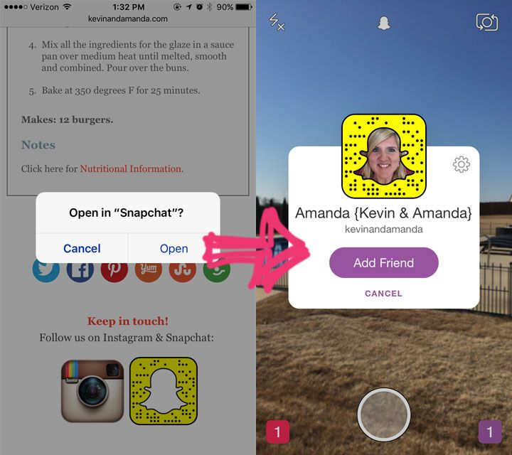 How to Make Your Instagram and Snapchat Profile Open IN the App