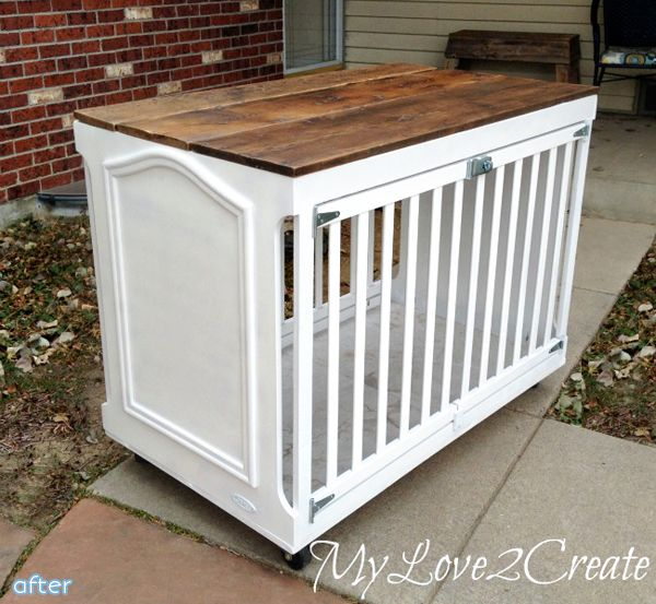 A nicer looking dog crate made from a baby crib.. or bunnies/chickens!