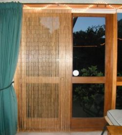 I remember fondly the bead curtains for doors (also called door beads) that my grandma used in her own home back in the days. They're really cool...