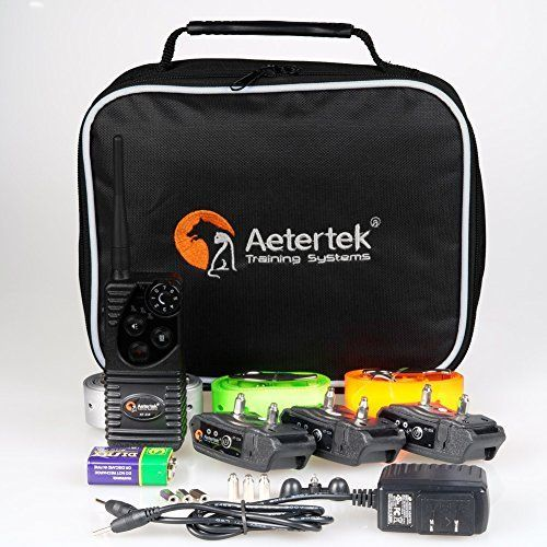 Aetertek AT-216W Rechargeable Yard Remote Pet Dog Trainer Dog Training Electric Shock Collar Water-resistant For 3 Dogs 600 *** Click image to read more details. #DogCollarsHarnessesLeashes
