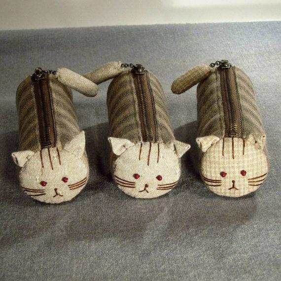 Cat zipper bags <3