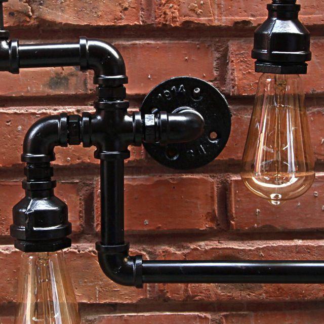 Industrial Lâmpadas de Parede Antigo Arandela Parede Da Tubulação de Água 85 V-280 V E27 Luminárias de Parede Quarto de Parede Bar iluminação de Luz Em Casa