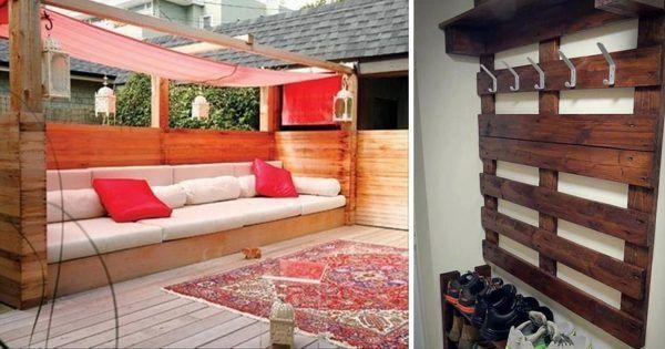 Snil o novém nábytku – tak si ho postavil z palet! Kreativní nápady na paletový nábytek do vaší domácnosti! | Vychytávkov