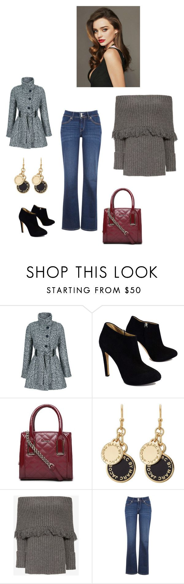 """weiblicher Stil"" by taniaazzini on Polyvore featuring moda, Giuseppe Zanotti, Bebe, Kerr®, Marc by Marc Jacobs, Exclusive for Intermix e Levi's"