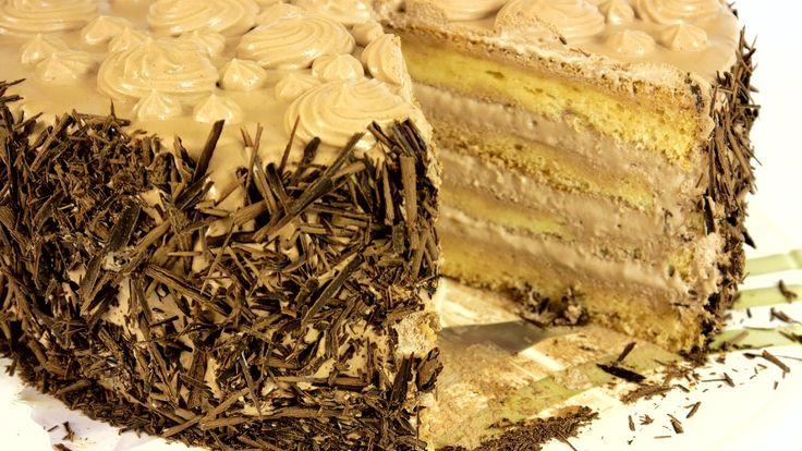 """Торт """"Нежность"""" со взбитыми сливками на шифоновом бисквите. Подробный ре..."""