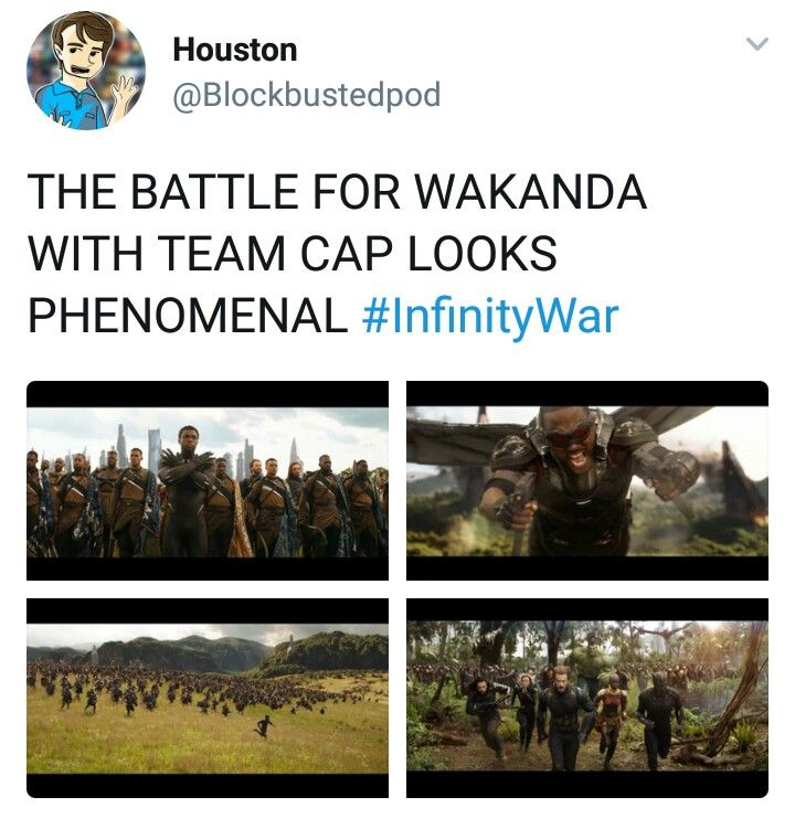 So excited for Infinity War but also super nervous