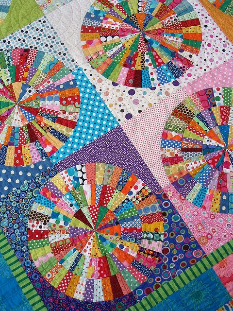 "Detail of ""Spot On"" Circle Quilt 