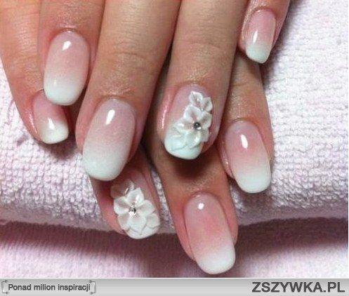 paznokcie ślubne