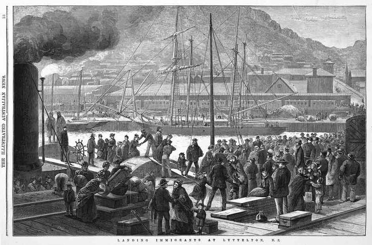 Immigrants landing at Lyttelton | NZHistory, New Zealand history online