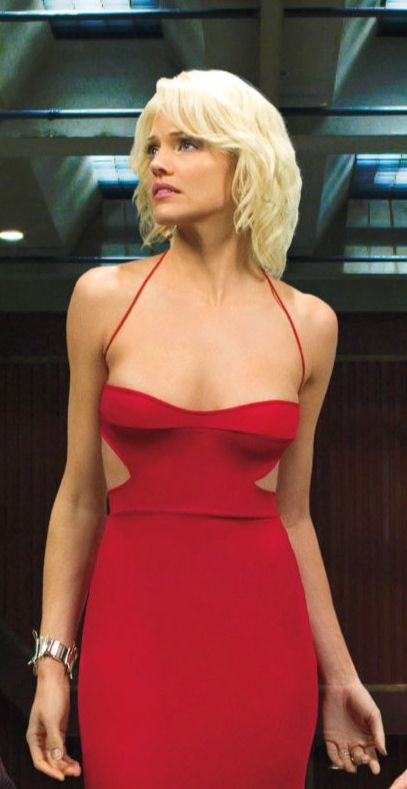 Tricia Helfer as Number Six in Battlestar Galactica (2004-2009)