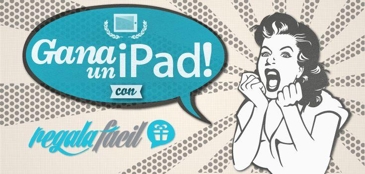 Quieres ganar un IPad, con Regala Fácil es sumamente fácil, por el lanzamiento de nuestra plataforma estamos sorteando un espectacular iPad 3, sólo debes darle like a nuestro fanpage además de compartir la siguiente imagen con 5 de tus amigos  Ve las bases en el siguiente enlace http://on.fb.me/13vFDN9
