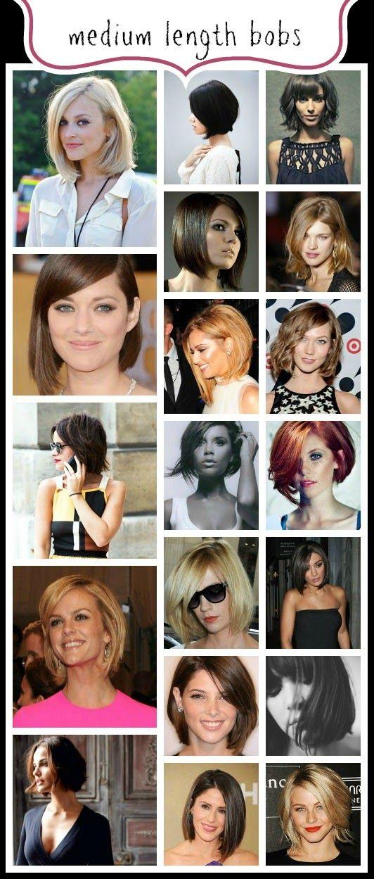 Celebrating THE BOB Hairstyle: Medium Length Bobs www.abeautifullittlelife.com