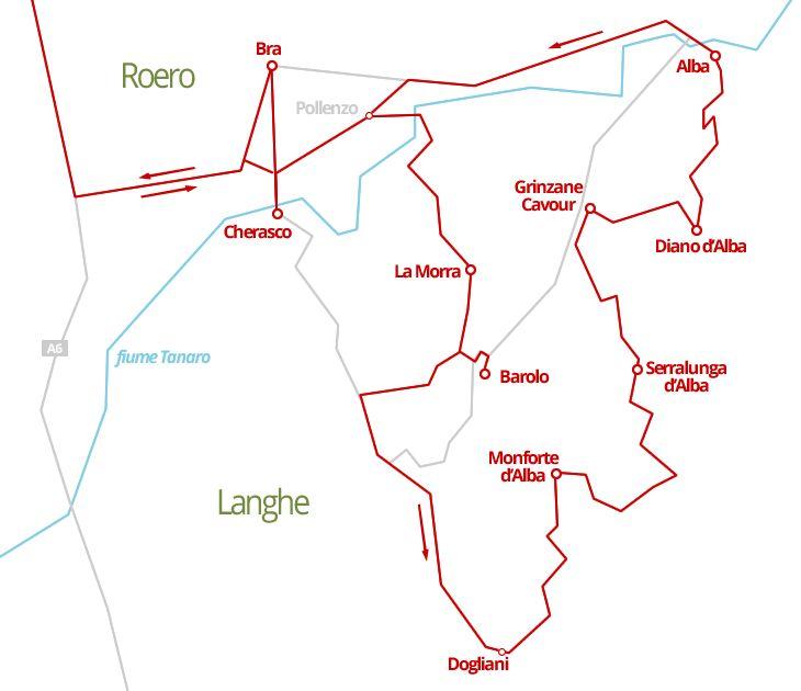 380 km - Le Langhe in camper, tra vigneti, vini celebri ed ottima gastronomia