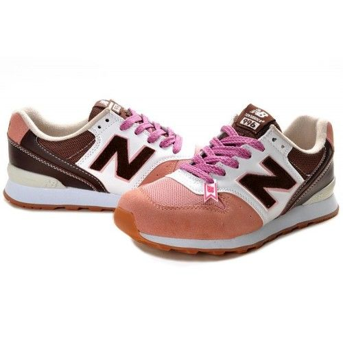 New Balance WR996 White Pink Brown Women Shoes Online