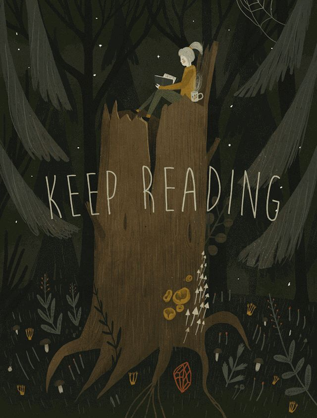 YOU'RE NEVER ALONE WHEN YOU'RE READING A BOOK