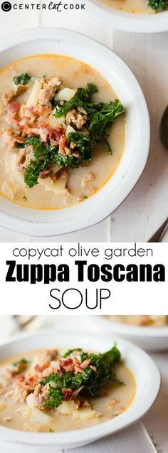 Make your own ZUPPA TOSCANA COPYCAT soup at home - tastes just like the favorite Olive Garden soup and is so easy!